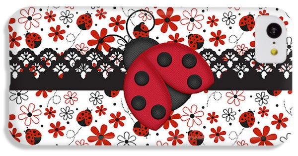 Charming Ladybugs IPhone 5c Case by Debra  Miller