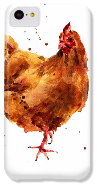 Cheeky Chicken IPhone 5c Case by Alison Fennell