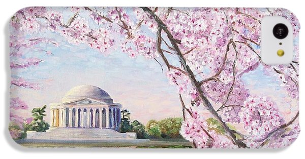 Thomas Jefferson iPhone 5c Case - Jefferson Memorial Cherry Blossoms by Patty Kay Hall