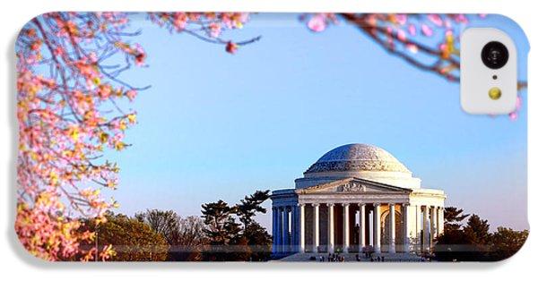 Jefferson Memorial iPhone 5c Case - Cherry Jefferson by Olivier Le Queinec