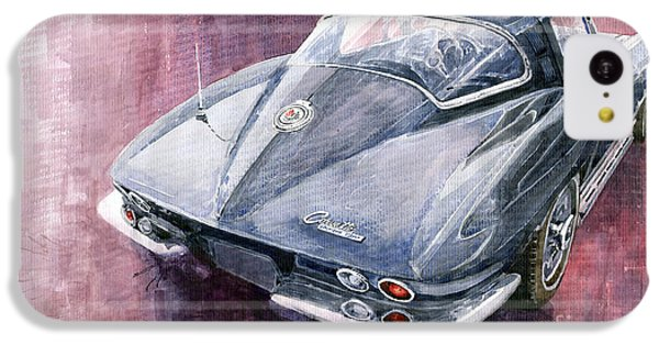 Chevrolet Corvette Sting Ray 1965 IPhone 5c Case by Yuriy  Shevchuk