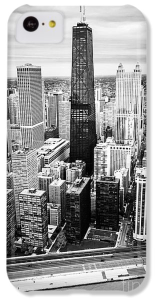 Chicago Aerial With Hancock Building In Black And White IPhone 5c Case by Paul Velgos