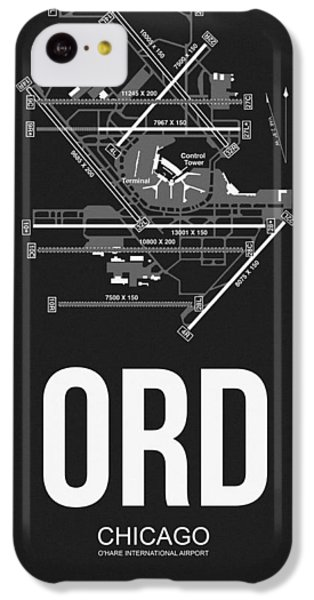 Transportation iPhone 5c Case - Chicago Airport Poster by Naxart Studio