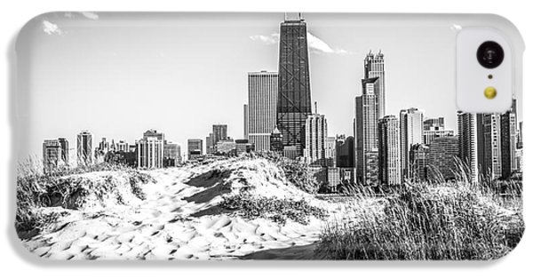 Chicago Beach And Skyline Black And White Photo IPhone 5c Case