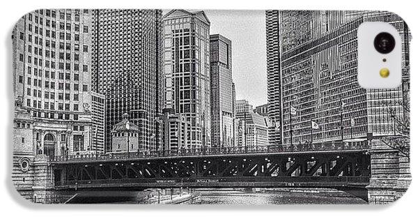 Architecture iPhone 5c Case - #chicago #blackandwhite #urban by Paul Velgos