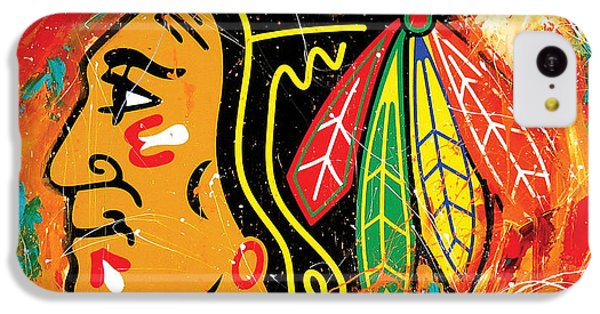 Chicago Blackhawks Logo IPhone 5c Case by Elliott From
