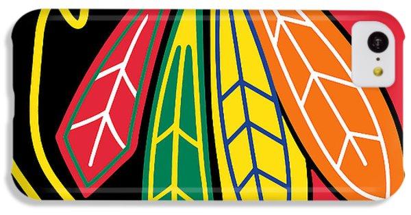 Hockey iPhone 5c Case - Chicago Blackhawks by Tony Rubino