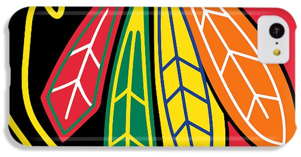 Chicago Blackhawks IPhone 5c Case by Tony Rubino