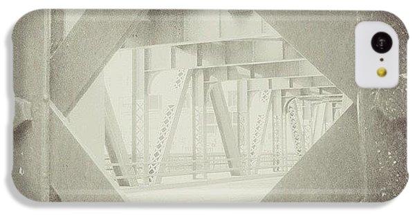 Architecture iPhone 5c Case - Chicago Bridge Ironwork Vintage Photo by Paul Velgos