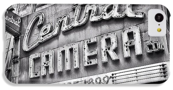 Architecture iPhone 5c Case - Chicago Central Camera Sign Picture by Paul Velgos