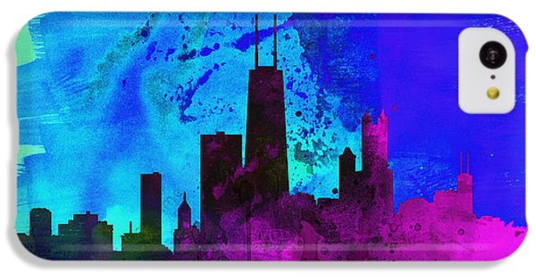 Chicago City Skyline IPhone 5c Case by Naxart Studio