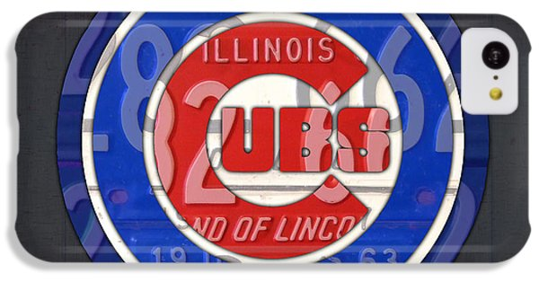 Chicago Cubs Baseball Team Retro Vintage Logo License Plate Art IPhone 5c Case by Design Turnpike