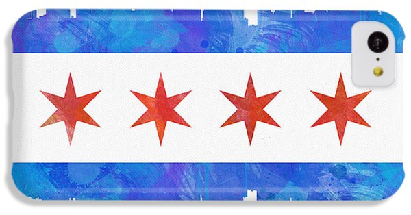 Chicago Flag Watercolor IPhone 5c Case by Mike Maher