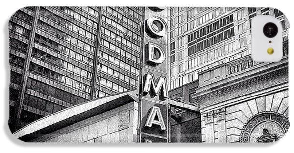 Architecture iPhone 5c Case - Chicago Goodman Theatre Sign Photo by Paul Velgos