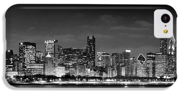 Chicago Skyline At Night Black And White IPhone 5c Case by Jon Holiday