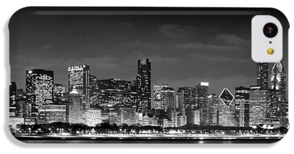 Chicago Skyline At Night Black And White IPhone 5c Case