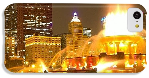 City iPhone 5c Case - Chicago Skyline At Night With by Paul Velgos