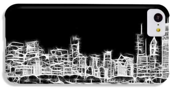 Chicago Skyline Fractal Black And White IPhone 5c Case