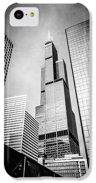 Chicago Willis-sears Tower In Black And White IPhone 5c Case by Paul Velgos