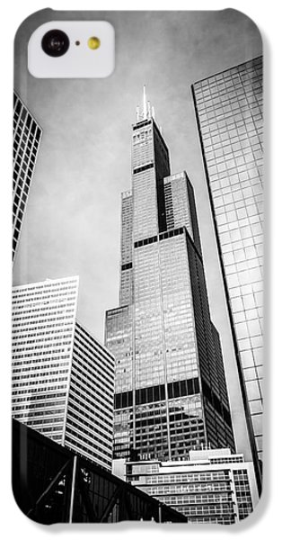 Chicago Willis-sears Tower In Black And White IPhone 5c Case