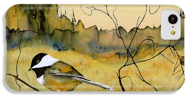 Chickadee In Dancing Pine IPhone 5c Case by Carolyn Doe