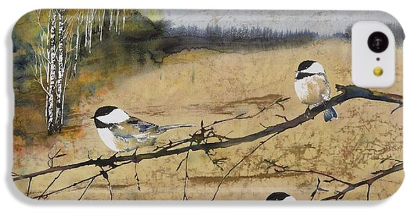 Chickadees And A Row Of Birch Trees IPhone 5c Case