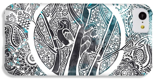 Decorative iPhone 5c Case - Chickadees by Andrea Stephenson