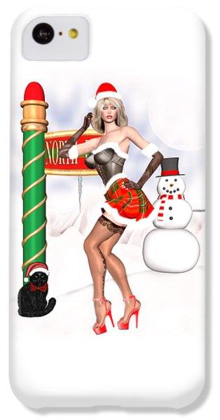 Christmas Elf Cleo IPhone 5c Case by Renate Janssen
