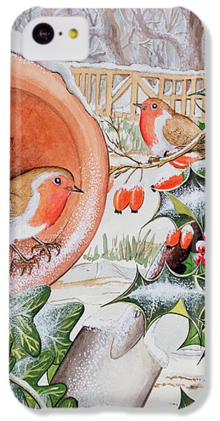 Christmas Robins IPhone 5c Case by Tony Todd