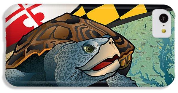 Diamondback iPhone 5c Case - Citizen Terrapin Maryland's Turtle by Joe Barsin