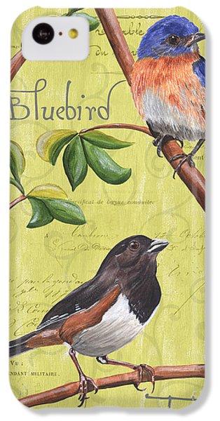 Bluebird iPhone 5c Case - Citron Songbirds 1 by Debbie DeWitt