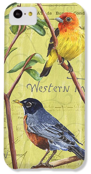 Robin iPhone 5c Case - Citron Songbirds 2 by Debbie DeWitt