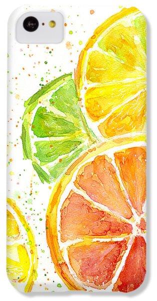 Citrus Fruit Watercolor IPhone 5c Case by Olga Shvartsur