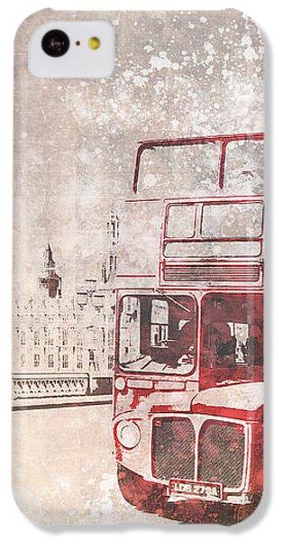 City-art London Red Buses II IPhone 5c Case by Melanie Viola