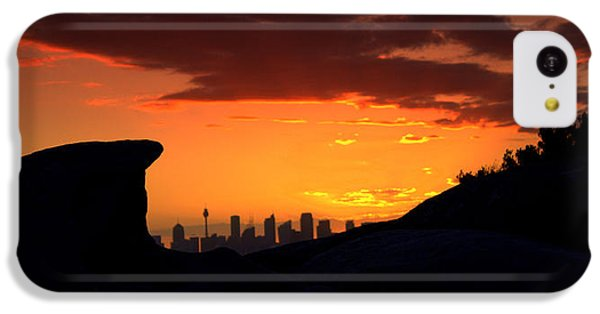IPhone 5c Case featuring the photograph City In A Palm Of Rock by Miroslava Jurcik