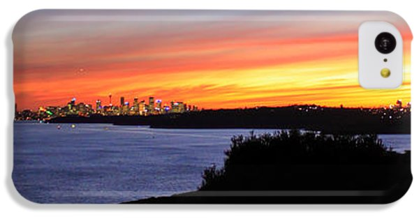 IPhone 5c Case featuring the photograph City Lights In The Sunset by Miroslava Jurcik