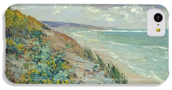 Beach iPhone 5c Case - Cliffs By The Sea At Trouville  by Gustave Caillebotte