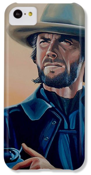 Eagle iPhone 5c Case - Clint Eastwood Painting by Paul Meijering