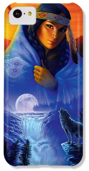 Cloak Of Visions Portrait IPhone 5c Case by Andrew Farley