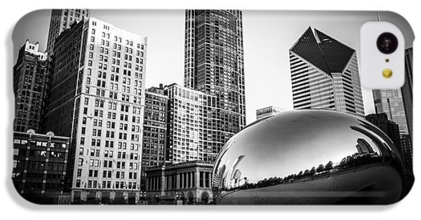 Cloud Gate Bean Chicago Skyline In Black And White IPhone 5c Case by Paul Velgos