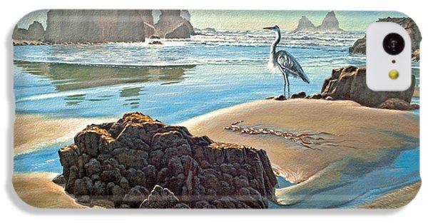 Heron iPhone 5c Case - Coast With Great Blue Heron by Paul Krapf