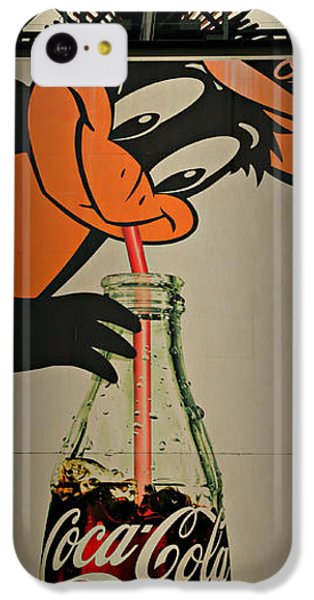 Coca Cola Orioles Sign IPhone 5c Case by Stephen Stookey