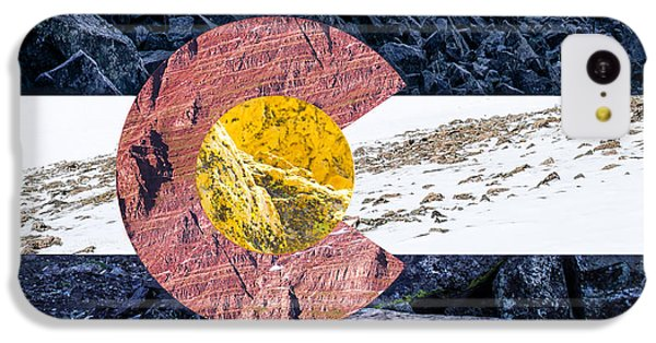 Colorado State Flag With Mountain Textures IPhone 5c Case by Aaron Spong