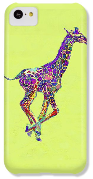 Colorful Baby Giraffe IPhone 5c Case by Jane Schnetlage