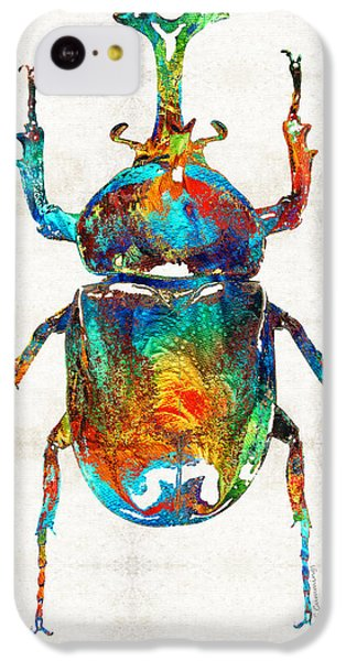 Colorful Beetle Art - Scarab Beauty - By Sharon Cummings IPhone 5c Case