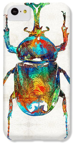 Colorful Beetle Art - Scarab Beauty - By Sharon Cummings IPhone 5c Case by Sharon Cummings
