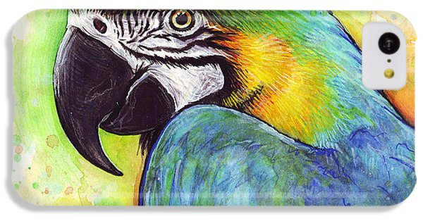 Macaw Watercolor IPhone 5c Case by Olga Shvartsur
