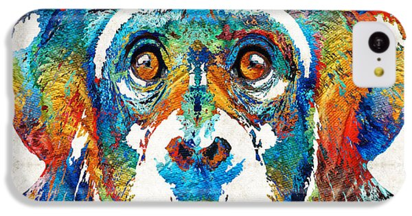 Colorful Chimp Art - Monkey Business - By Sharon Cummings IPhone 5c Case by Sharon Cummings