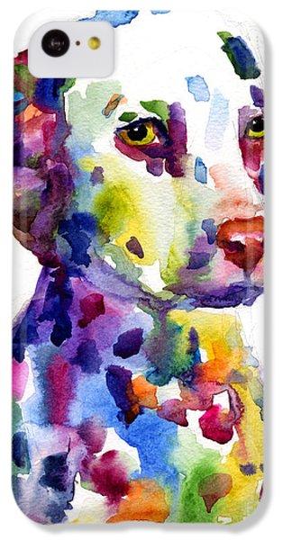 Colorful Dalmatian Puppy Dog Portrait Art IPhone 5c Case