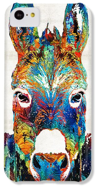 Colorful Donkey Art - Mr. Personality - By Sharon Cummings IPhone 5c Case